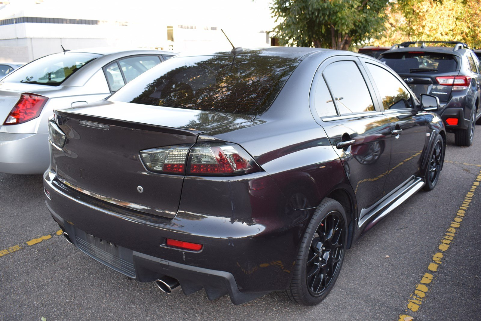 ... Pre Owned 2014 Mitsubishi Lancer Evolution MR 4dr Car In Aurora